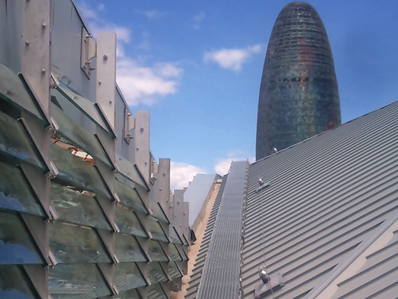 Cubierta Encants Barcelona