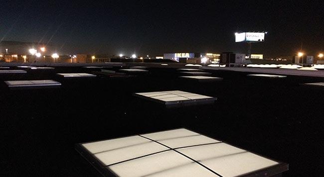 Sistemas de iluminacion en cubiertas accesorio