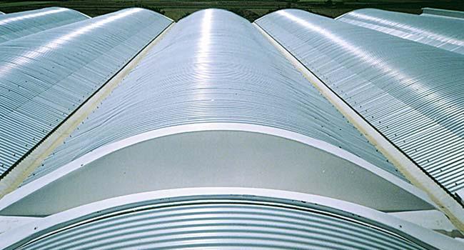 cubiertas metalicas curvas