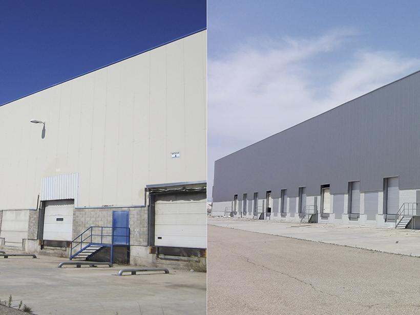 Antes y después nave Merlin Properties