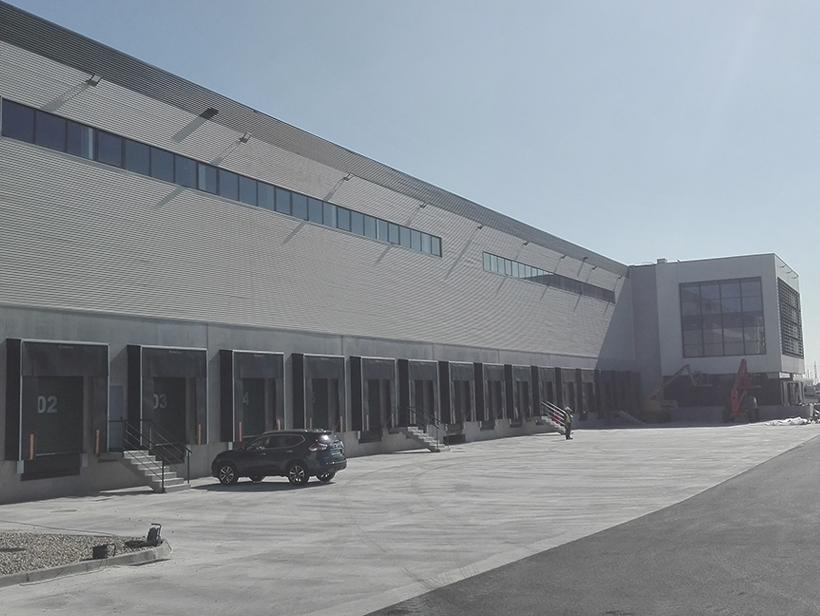 Fachada nave Prologis Valencia